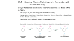 Directing Effects of Substituents in Conjugation with the