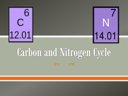 Carbon and Nitrogen Cycle - Alamance