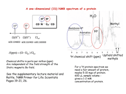 (1D) NMR spectrum of a protein