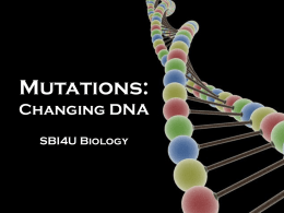 Mutations: Changing DNA
