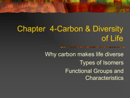 Chapter 4-Carbon & Diversity of Life