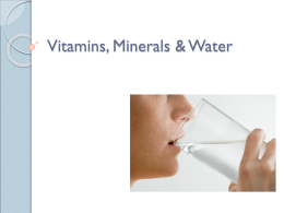 Vitamins Minerals and Water