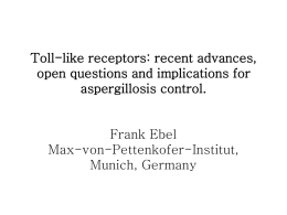 Toll-like receptors: resent advances, open questions and