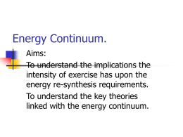 Lesson 4 - Energy Continuum