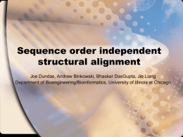 Sequence order independent structural alignment