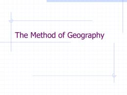 Geographic Method