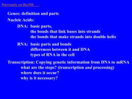 Step two: Translation from mRNA to protein