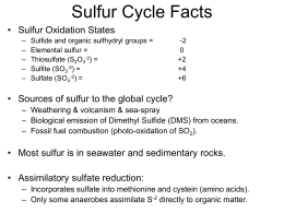 Sulfur Cycling - Penn State York