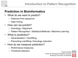 Prediction - Center for Biological Sequence Analysis