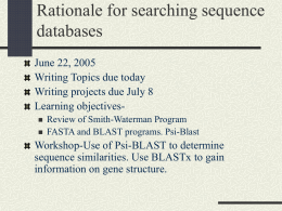 rationale_for_searching_seq_db - Cal State LA