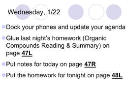 Organic Compounds Notes 2014