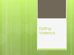 Violence in Dating for blog