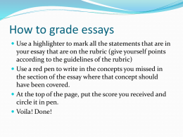 Key concepts for Essay #1