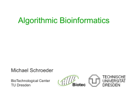 Algorithmic Bioinformatics