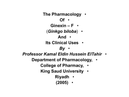 The Pharmacology Of Ginexin – F