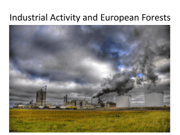 Industrial Activity and European Forests