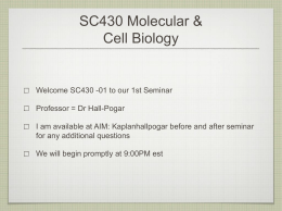 SC430 Molecular & Cell Biology