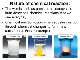 Nature of chemical reaction - Environmental-Chemistry