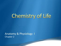 Chemistry of Life - Dr. Wilson`s Site