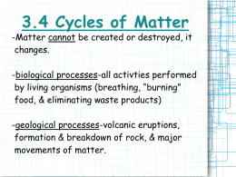 3.4 Cycles of Matter