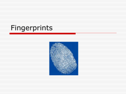 Fingerprints notes