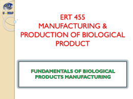Fundamental of Biological Products Manufacturing 1