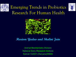 Emerging Trends in Probiotics Research