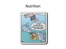 Nutrition Part 1 Powerpoint