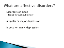 What are affective disorders?
