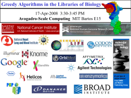 Greedy Algorithms in the Libraries of Biology