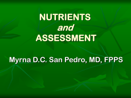 Nutrients & Assessments
