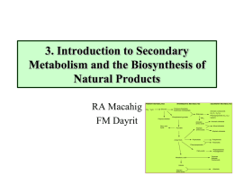 1. Introduction to Natural Products Chemistry