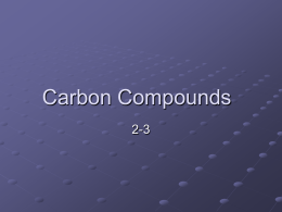 Carbon Compounds - Southgate Schools