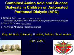 Amino Acid Dialysate in Children on APD