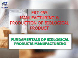 Fundamental of Biological Products Manufacturing 2
