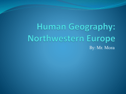 Human Geography of Northwestern Europe