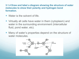 3.1.4 Draw and label a diagram showing the structure of water