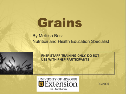 about alternative (non-wheat) grains powerpoint