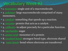 Biochemistry Notes - Metcalfe County Schools