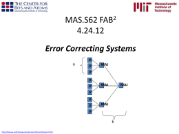 Error-Correcting Systems