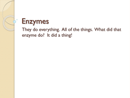 Enzymes upload