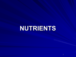Nutrients - Dover High School