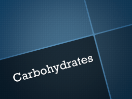 Carbohydrades power point