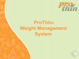 ProThin® Meal Replacement