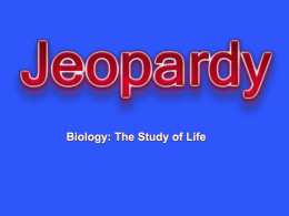 The Study of Life Jeopardy Review