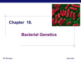 Bacterial recombination PPT - Hatboro