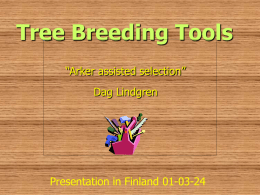 Tree Breeding Tools