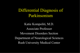 Treatment of Moderate and Advanced Parkinson's Disease An