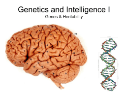 Genetics and Intelligence