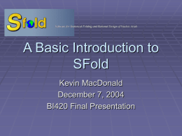 A Basic Introduction to SFold